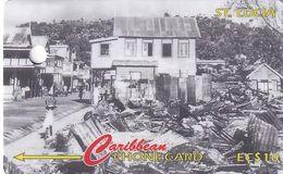 ST. LUCIA ISL.(GPT) - Castries After The 1948 Fire, CN : 147CSLC/B(Lli, Normal 0), Tirage 10000, Used - Santa Lucía