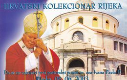 TH2461  --  LOT 4 X PAUS JOHANNES PAULUS II.DJAKOVO, OSIJEK, DUBROVNIK  --  BESUCH NACH CROATIA 2003  --  RIJEKA, - Papi