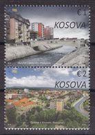 Kosovo 2020 Cities Podujeva Buildings Architecture River Bridges Set MNH - Kosovo