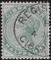 Gibraltar     .    SG        .   8       .    O     .   Oblitéŕé    .   /    .    Cancelled - Gibraltar