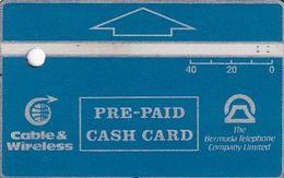 BERMUDA ISL.(L&G) - Blue Generic 40 Units, Tirage 5000, CN : 305A, 05/93, Used - Bermude