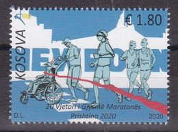 Kosovo 2020 20th Annyversary Of Half Marathon Sports Athletics Disabled Persons Stamp MNH - Athletics