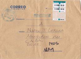 EXPRESO. ARGENTINE ENVELOPPE CIRCULEE GENERAL LUCIO V MANSILLA A CAPITAL FEDERAL. ANNEE 2020. -LILHU - Argentina