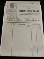 Luxembourg Facture, BEFFORT-BANDERMANN 1917 - Luxemburgo