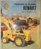 RARE CATALOGUE MATÉRIEL DE CHANTIER RENAULT TARIF ET CARACTÉRISTIQUES TRAVAUX PUBLICS ANNÉES 50 60 - Tractors