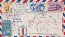 TOP OF THE WORLD ARCTIC RESEARCH LABORATORY, ALASKA. ETATS UNIS ENVELOPPE CIRCULEE ARCTIQUE A ANTARTIQUE, AN 1962 -LILHU - Polar Philately