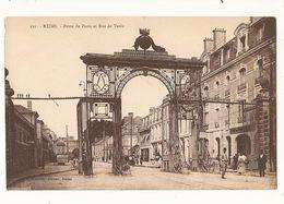Marne Reims Porte De Paris Et Rue De Vesle - Reims