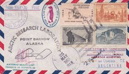 ARCTIC RESEARCH LABORATORY, POINT BARROW, ALASKA. ETATS UNIS ENVELOPPE CIRCULEE ARCTIQUE A ANTARTIQUE, AN 1963 -LILHU - Polar Philately