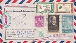 ARCTIC RESEARCH LABORATRY, FLETCHERS ICE LANDS. ETATS UNIS ENVELOPPE CIRCULEE ARCTIQUE A ANTARTIQUE, AN 1963 -LILHU - Polar Philately