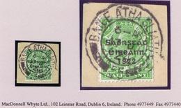 """Ireland 1923 Harrison Saorstat Coils ½d Horizontal Single On Piece Dublin Cds """"socked-on-the-nose"""" BAILE ATHA CLIATH 17 - Nuovi"""