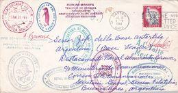 ETATS UNIS ENVELOPPE CIRCULEE ARCTIQUE A ANTARTIQUE AN 1961, SIGNE D VOZNESENSKI -LILHU - Polar Philately