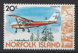 "NORFOLK ISLAND...QUEEN ELIZABETH II.(1952-NOW..)...."" 1980..""...CESSNA 172.......PLANE......20c......SG242.......MNH - Aerei"