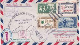ARCTIC RESEARCH LABORATORY, POINT BARROW ALASKA. ETATS UNIS ENVELOPPE CIRCULEE ARCTIQUE A ANTARTIQUE AN 1963 -LILHU - Polar Philately