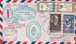 ETATS UNIS ENVELOPPE CIRCULEE ARCTIQUE A ANTARTIQUE AN 1963. SIGNE D. VOZNESENSKI -LILHU - Polar Philately