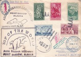 ARCTIC RESEARCH LABORATORY, POINT BARROW, ALASKA. ETATS UNIS ENVELOPPE CIRCULEE ARCTIQUE A ANTARTIQUE AN 1963. -LILHU - Polar Philately