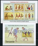 Tanzania 2009, Youth And Sports Stamps Issue, MNH Bloc And Sheet - Tanzanie (1964-...)