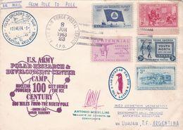 POLAR RESEARCH & DEVELOPMENT CENTER, NUCLEAR CENTURY. ETATS UNIS ENVELOPPE CIRCULEE ARCTIQUE A ANTARTIQUE AN 1963 -LILHU - Polar Philately
