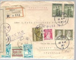 LETTER 1945 REGISTERED  ELAIZ  CENSOR - 1921-... Repubblica