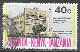 1974 Zanzibar Revolution Anniversary, 40 Cents, Used - Kenya, Uganda & Tanganyika
