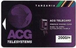 Tanzania - ACG Adesemi (Magnetic) - Big Logo, Call 926 On Reverse, 2.000Tsh, Used - Tanzania