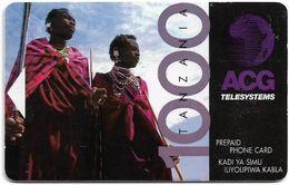 Tanzania - ACG Adesemi (Magnetic) - Two Native Tanzanians, 1.000Tsh, Used - Tanzania