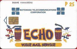 Botswana - BTC - Echo, Chip Gem5 Red, 2002, 25P, Used - Botswana