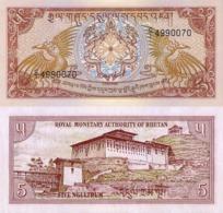 BHUTAN, 5 NGULTRUM, 1985, P14a, UNCIRCULATED - Bhutan
