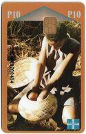 Botswana - BTC - Basket Making, Chip Siemens S31, Cn. BOGAA00xxxxxx, 10P, Used - Botswana