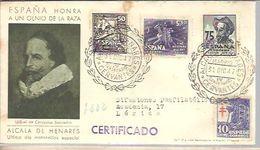 POSTMARKET ESPAÑA 1947  CERVANTES  QUIJOTE - Ecrivains