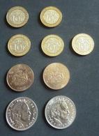 Monnaie Monaco  -  Lot De 9 Pièces - 10 Fr  1989 - 1993 - 3 De 2000 - 2 De 1977 - 5 Fr De 1971 - 1974  - Réf, Z 05 - Monaco