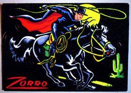 ZORRO (carte En Feutrine Collée Sur Le Papier) - Disney