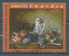 France YT N°3105 Chardin Oblitéré ° - France