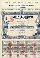 Titre Ancien - Stade-Vélodrome De La Ville De Nice- Fondation Antoine Dupriez - Titre De 1926 - Déco - Sports