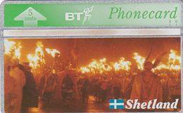 SHETLAND ISL. - Shetland Islands Heritage/Up Helly AA(BTG216), First Issue 5 Units, CN : 310K, Tirage 2000, Mint - Télécartes