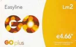 MALTA - GO Prepaid Card Lm 2/4.66 Euro, Used - Malta