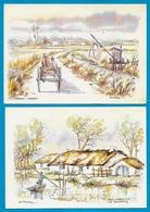 (Lot De 2) CPM 85 Vendée : Aquarelle De B. TESSIER : Marais Vendéen & La Bourrine ** Illustrateur - Non Classificati