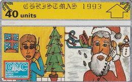 GIBRALTAR - Christmas 1993, CN : 310L, Tirage 10000, Used - Gibraltar
