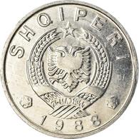 Monnaie, Albania, 5 Qindarka, 1988, SUP, Aluminium, KM:71 - Albanië