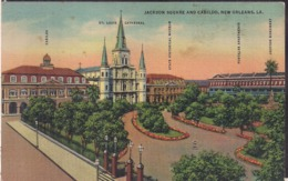 C. Postale - Jackson Square And Cabildo - Circa 1940 - Non Circulee - A1RR2 - New Orleans
