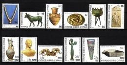 ZYPERN MI-NR. 587-598 POSTFRISCH(MINT) Neue Wertangabe ARCHÄOLOGISCHE FUNDE - Chipre (República)