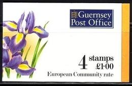 GUERNSEY MH 0-13 POSTFRISCH(MINT) IRIS BLUMEN 1994 - Guernesey