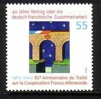 DEUTSCHLAND MI-NR. 2311 POSTFRISCH(MINT) - MITLÄUFER 2003 - DEUTSCH- FRANZÖSISCHE ZUSAMMENARBEIT - Idee Europee