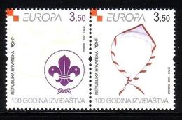 KROATIEN MI-NR. 805-806 ZD POSTFRISCH(MINT) EUROPA 2007 PFADFINDER - Europa-CEPT
