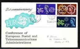 GROSSBRITANNIEN MI-NR. 346-348 FDC EUROPA 1961 - TAUBE KÖNIGIN ELIZABETH II - 1961