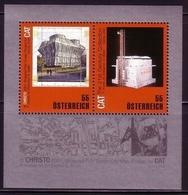 ÖSTERREICH BLOCK 50 POSTFRISCH(MINT) VERPACKUNGSKÜNSLER CHRISTO - Blocks & Sheetlets & Panes