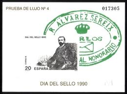SPANIEN SONDERDRUCKBLOCK MIT MI- NR 2936 TAG DER BRIEFMARKE 1990 - Blocks & Kleinbögen