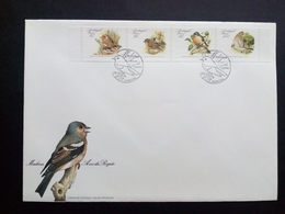 MADEIRA MI-NR. 119-122 C FDC ENDEMISCHE VÖGEL (II) ROTKEHLCHEN BUCHFINK SPERBER - Madeira