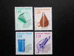 FRANKREICH MI-NR. 2791-2794 POSTFRISCH(MINT) MUSIKINSTRUMENTE 1990 AKKORDEON DUDELSACK TAMBURIN DREHLEIER - Precancels