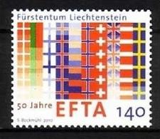 LIECHTENSTEIN MI-NR. 1561 POSTFRISCH(MINT) Mitläufer 2010 50 JAHRE EFTA - Idee Europee