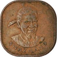 Monnaie, Swaziland, Sobhuza II, 2 Cents, 1974, British Royal Mint, TB+, Bronze - Swasiland